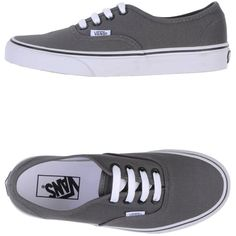 Vans Low-Tops & Trainers (€45) ❤ liked on Polyvore featuring shoes, sneakers, vans, sapatos, grey, gray shoes, vans footwear, rubber sole shoes, vans trainers ve gray sneakers