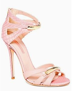 pink heels w/ gold clasp