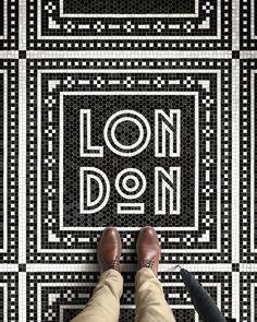 Typographic Floor Mosaics Document Designer's Journey Around the World Fauxsaics Series Combines Mosaic Art with Travel-Inspired TypographyFauxsaics Series Combines Mosaic Art with Travel-Inspired Typography Inspiration Typographie, Typography Inspiration, Design Inspiration, Travel Inspiration, Louise Fili, Environmental Graphics, Environmental Design, Floor Design, Tile Design