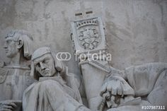 """Download the royalty-free photo """"Monument of the Discoveries, detail view, Lisbon, Portugal """" created by Ciaobucarest at the lowest price on Fotolia.com. Browse our cheap image bank online to find the perfect stock photo for your marketing projects!"""