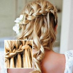 Vintage hairstyle for long hair
