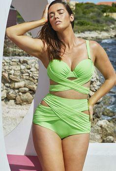 c0561abd83a GabiFresh D/DD Cup Kiwi Wrap Underwire High Waist Bikini Fatkini and More  Great Two