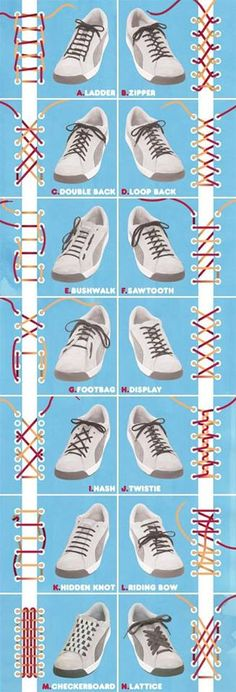 Czy pamiętacie okres, w którym wiązanie butów było dla Was wyzwaniem? Mamy dla Was niespodziankę – nowe metody wiązania butów! Który z nich wybieracie dla siebie?:)