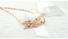 stereo female custom pendant necklace 925 silver with name - $73.00 : nameonnecklace.com