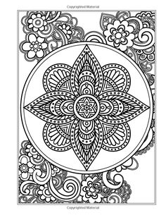 Amazon.com: The Garden Mandala: An Adult Coloring Book (Eclectic Coloring Books)…