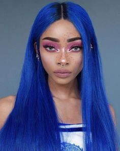 Purple Wig, Green Wig, Blue Wig, Neon Purple, Blue Ombre, Frontal Hairstyles, Wig Hairstyles, Premium Lace Wigs, Pelo Color Azul