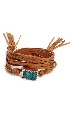 Free shipping and returns on Panacea Suede Drusy Wrap Bracelet at Nordstrom.com. A sparkling drusy stone enhances the boho-chic, nature-inspired appeal of a leather wrap bracelet that can also be worn as a necklace.
