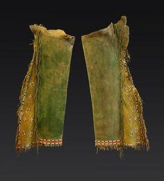 Cheyenne Men's Beaded Leggings with Dragonflies #9669