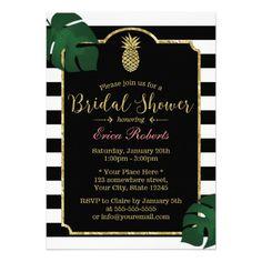 Modern Tropical Pineapple Hawaiian Bridal Shower