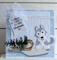 Xmas Cards To Make, Holiday Cards, Christmas Cards, Christmas Decorations, Baby Cards, Kids Cards, Christmas Dog, Handmade Christmas, Marianne Design Cards
