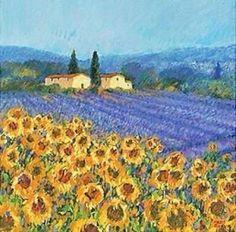 van gogh : zonnehart 2010 haikoes en moderne kunst Lavender and Sunflower Fields in Provance Vincent Van Gogh, Stretched Canvas Prints, Framed Art Prints, Fine Art Prints, Van Gogh Paintings, Watercolor Paintings, Provence, Van Gogh Pinturas, Van Gogh Sunflowers