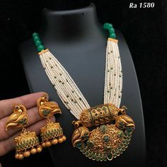 Price For Gold Jewelry Code: 8963439849 Gold Jewellery Design, Gold Jewelry, Beaded Jewelry, Designer Jewellery, Beaded Necklaces, Indian Wedding Jewelry, Jewelry Model, India Jewelry, Jewelry Patterns