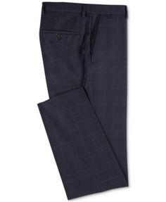 Boss Men's Slim Fit Virgin Wool Pants - Blue 32R Mens Plaid Pants, Boss Man, Plus Size Activewear, Tailored Trousers, Wool Pants, Jeans Dress, Slim Man, Trendy Plus Size, Hugo Boss