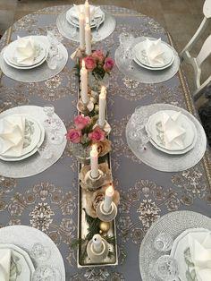Duka bordet med vacker ljushållare. www.houseofrevolution.se