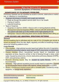 what you need to know- pulmonary