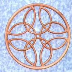 MEANING:  Four circles signify the seasons. An outer ring surrounding a knot plants the meaning of the knot onto a relationship. These four seasons are composed of one endless line, meaning a relationship to last for eternity.    This Celtic Love Knot is often given as a wedding or anniversary present.
