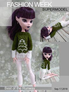 Christmas Monster High doll clothes 17 inch Hand-knitted sweater with leggings White Leggings, Leggings Are Not Pants, Etsy Handmade, Handmade Items, Handmade Gifts, Christmas Time, Christmas Gifts, Monster High Doll Clothes, Original Gifts