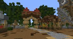 #minecraft #buildings #simple #fantasy #lollyherz #village #portal #portale #steampunk