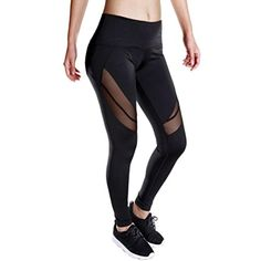 Gillberry Women Mesh Yoga Pants Outdoor Gym Fitness Elastic Joggers Leggings >>> Visit the image link more details. (This is an affiliate link) #Clothing