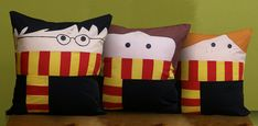 Super adorable Harry Potter pillows! I must admit I have a slight obsession with blankets and pillows. I'm going to have to make a DIY Harry, Ron, Hermione, Snape and Dumbledore.