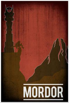 Lord of the Rings movie poster movie art film print LOTR art poster print 11x17 Mordor. $19.00, via Etsy.
