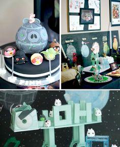 Angry Birds Star Wars Birthday Party via Kara's Party Ideas KarasPartyIdeas.com Starwars #angrybirds #angrybirdsparty
