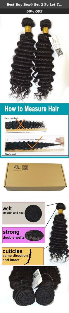 """Best Buy Box@ Set 2 Pc Lot True Human Remy(remi) Hair Extensions Brazilian Virgin Hair Deep Wave Microloop Curly Mix Length 12""""-30"""" Wholesale Black#1b (16 18 inch). Are you looking for high quality hair extensions? You are now making right decision to shop with us! This is 100% 5A TRUE virgin remy human hair extensions with Smooth, Bouncy, Tangle Free, and Long Lasting Queen Rose Hair is sold by Best Buy Box only! Human Hair Can Be Treated As If They Were Your Own Hair, They Can Be Washed..."""