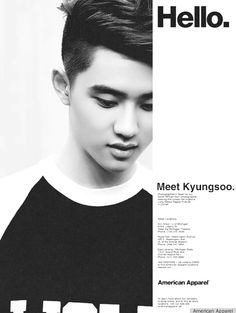 EXO for American Apparel: meet Kyungsoo