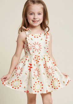 ModCloth Palava Sartorial Storyline Girl's Dress in Ice Pops in - Sleeveless A-line Midi by Palava from Little Girl Dresses, Girls Dresses, Flower Girl Dresses, Casual Frocks, Kids Frocks, Holiday Dresses, Kind Mode, Timeless Fashion, Dress Patterns