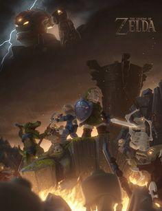 LEGO The Legend of Zelda Poster by Ragaru.deviantart.com on @DeviantArt