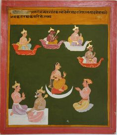 www.IndianMiniaturePaintings.co.uk - Folio from a Saranghadhara Paddati. Mewar, circa 1690-1700. Opaque watercolour with gold on wasli. 25.8 x 20.4cm