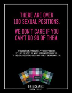 There are over 100 sexual positions. via Ads of the World