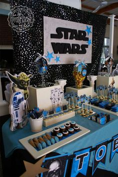 Star wars - 4 th birthday tobias birthday party ideas. Best Friend Birthday Surprise, First Birthday Parties, First Birthdays, Birthday Cakes, 9th Birthday, Birthday Ideas, Decoracion Star Wars, Tema Star Wars, Aniversario Star Wars
