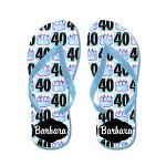 40th Birthday Cake Flip Flops http://www.cafepress.com/jlporiginals/10151910 #40thbirthday #Happy40th #40yearsold #40thbirthdaygift #40thparty #turning40 #40thflipflops #Personalized40th