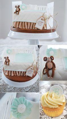 Baby Shower Crib Cake   www.lifeandbaby.com