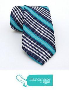 "Black, white and turquoise striped men's tie 7 cm (2,76"") SL-009 from Nazo Design https://www.amazon.com/dp/B01FVYGFLC/ref=hnd_sw_r_pi_dp_2Yy6xbNKZXQ5D #handmadeatamazon"