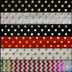 NEW metallic foil elastic! fold over elastic at wholesale pricing