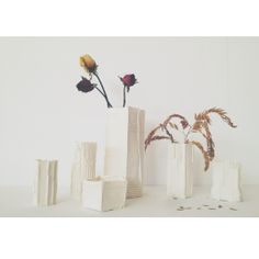 Paper porcelain vases | White Atelier BCN