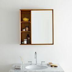 Mid-Century Medicine Cabinet w/ Shelves | West Elm