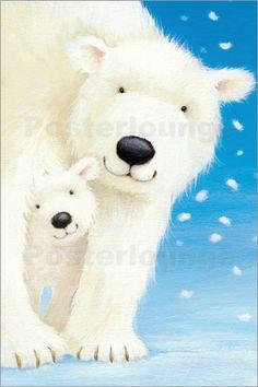 Wandbild von Alison Edgson - Fluffy Polar Bear