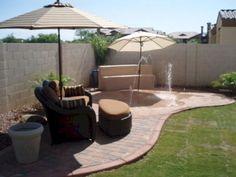 25 Ideas backyard oasis on a budget patio makeover Backyard Ideas For Small Yards, Small Backyard Landscaping, Backyard For Kids, Backyard Patio, Landscaping Design, Arizona Backyard Ideas, Sloped Backyard, Patio Ideas, Acreage Landscaping