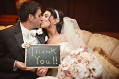 """wedding thank-you's. Use chalk board sign, especially if that is used for polaroid """"guest book"""""""