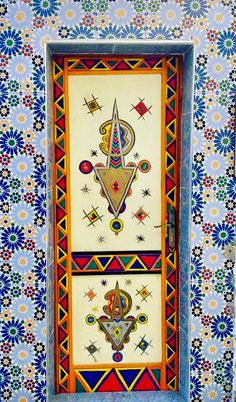 Taghazout, Morocco - amazing artwork   door