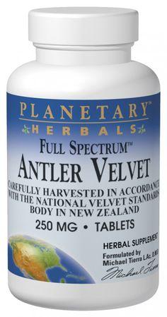 Planetary Herbals Antler Velvet Full Spectrum 250 mg - 60 Tablets