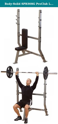Body-Solid SPB368G ProClub Line Olympic Shoulder Press. New Body-Solid Pro Clubline Olympic Shoulder Press features heavy duty construction with solid gunracks and durable upholstery. This commercially rated product is perfect for the serious lifter in both club and home applications. Features Body-Solid's exclusive Lifetime In Home Warranty that covers everything. Forever. Period. This product has been approved for commercial application in the following industries: Corporate facilities...