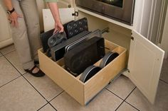 Under-Stove Drawer for Organizing Pans | Spice Drawers