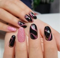 Nails play an eye-catching role in women's images. Beautiful nail designs make people happy and increase their personal charm. Fine manicured nails make people delicate and beautiful. If you want to make your nails beautiful and memorable, you can t Classy Nails, Cute Nails, Pretty Nails, Pink Nail Art, Pink Nails, Dark Gel Nails, Cat Nail Art, Nagel Stamping, Finger
