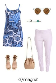 How to wear blue prints #plussize #outfit
