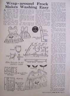 wrap around frock pattern Enid Gilchrist