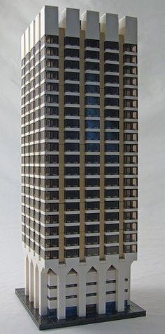 Kent House / London Weekend Television Building in London, UK (1972) by architect Cecil H. Elsom & Partners.  LEGO model by CamelBoy68.